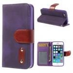 iphone-5-5s-doek-structuur-leren-case-stand-paars